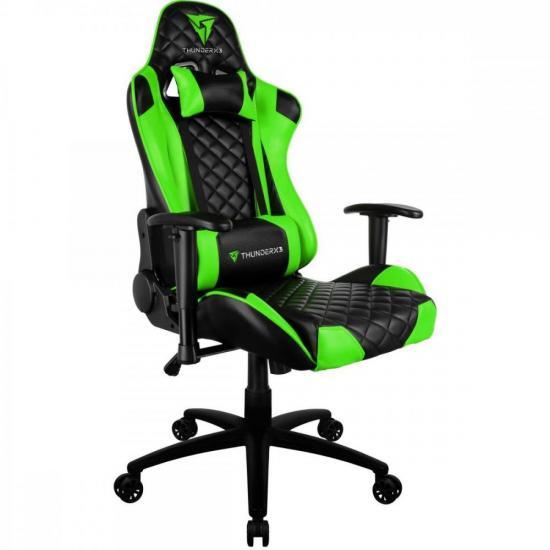 Cadeira Gamer Profissional TGC12 Preta/Verde THUNDERX3  - Audio Video & cia