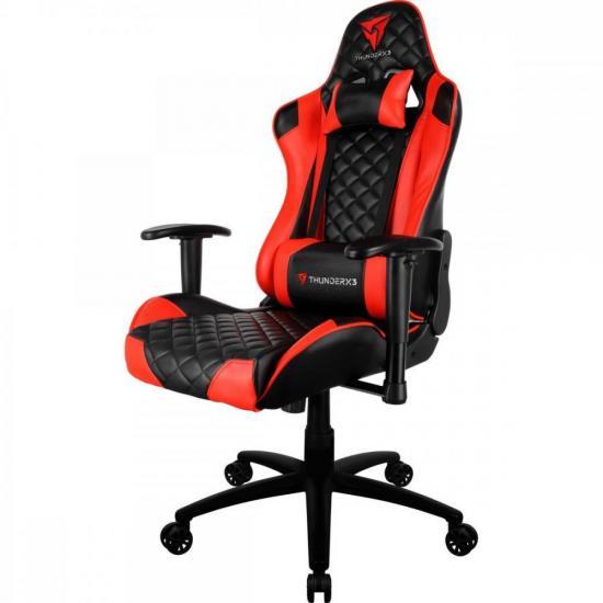 Cadeira Gamer Profissional TGC12 Preta/Vermelha THUNDERX3  - Audio Video & cia