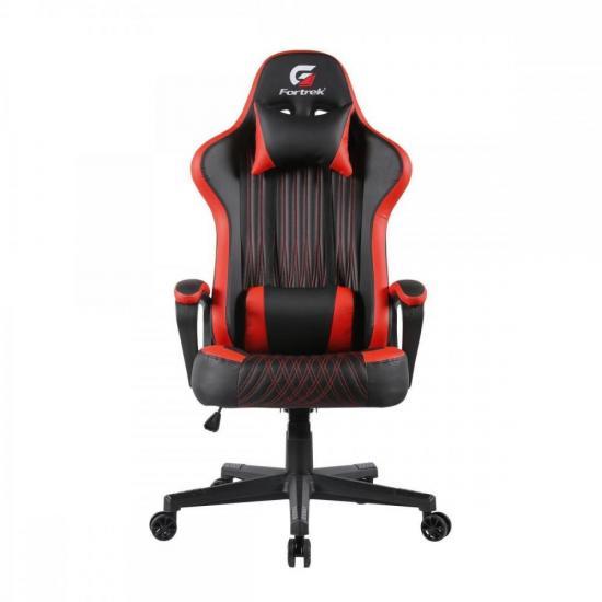 Cadeira Gamer Vickers Preta/Vermelha FORTREK  - Audio Video & cia