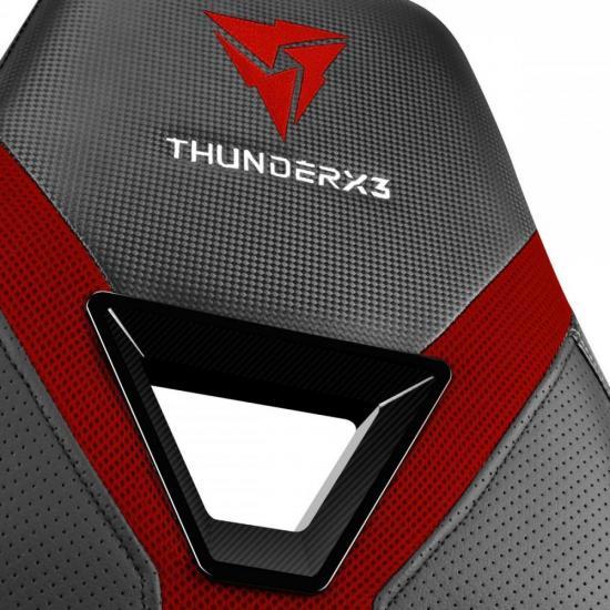 Cadeira Gamer YC3 Preta/Vermelha THUNDERX3  - Audio Video & cia