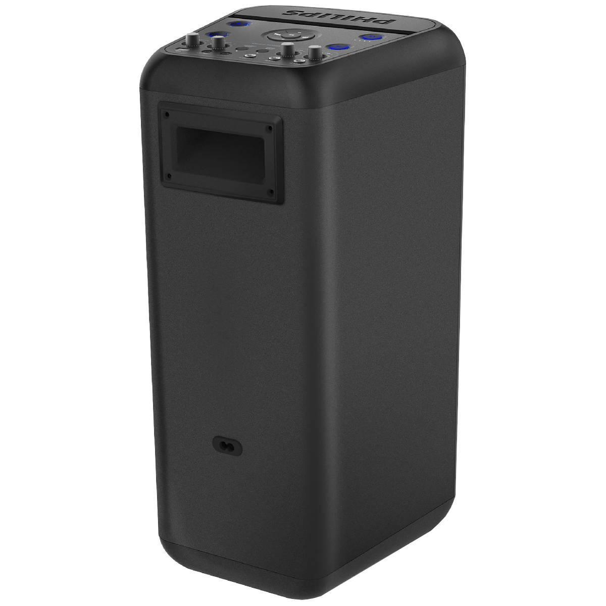 CAIXA DE SOM PARTY SPEAKER BLUETOOTH LED/USB/AUXILIAR 80W TANX200 PRETA  - Audio Video & cia