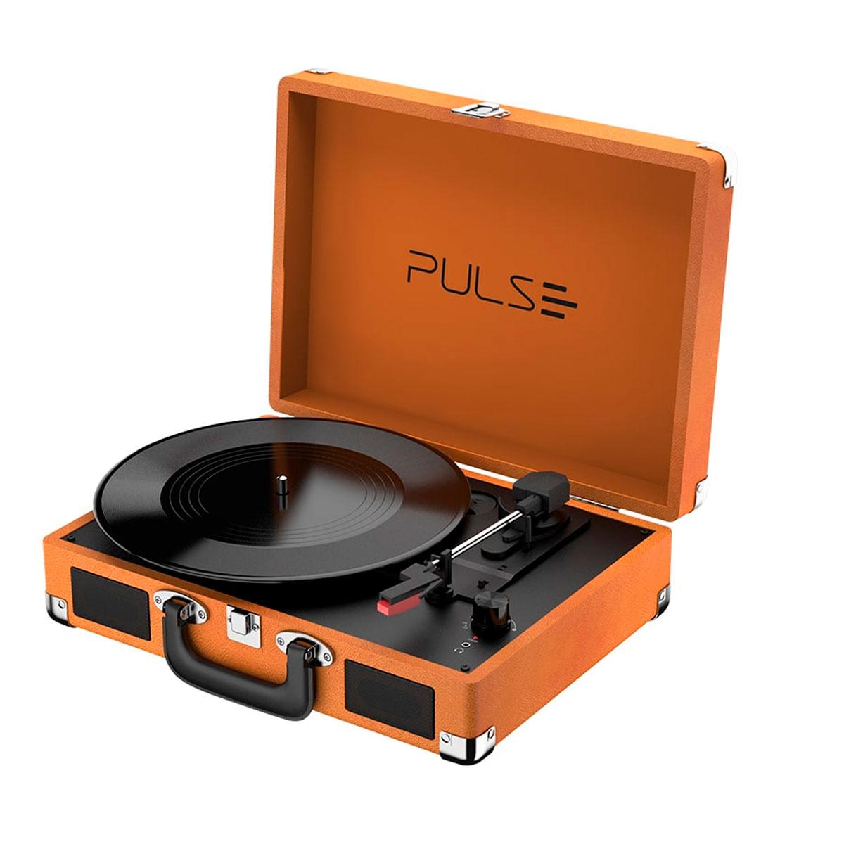 CAIXA DE SOM RETRO PULSE SUITCASE VITROLA 5W BT/AUX/USB SP364  - Audio Video & cia