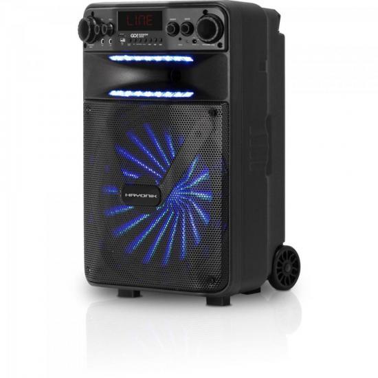 Caixa Multiuso Portátil Bluetooth/MicroSD/USB/FM 100W GO!POWER 200 HAYONIK  - Audio Video & cia