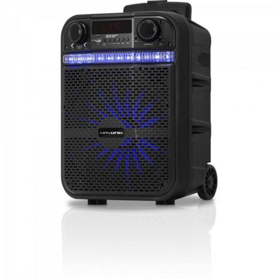 Caixa Multiuso Portátil Bluetooth/MicroSD/USB/FM 80W GO!POWER 100 HAYONIK  - Audio Video & cia