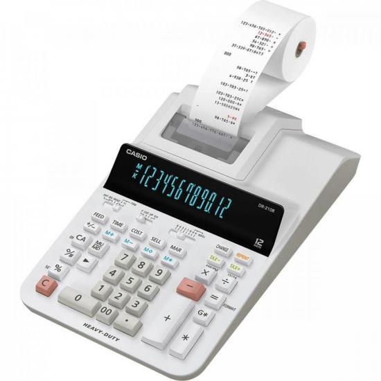 Calculadora com Bobina DR-210R WE Branca CASIO  - Audio Video & cia