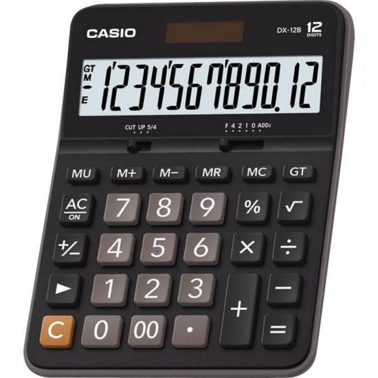 Calculadora de Mesa 12 Dígitos DX-12B Preta CASIO  - Audio Video & cia