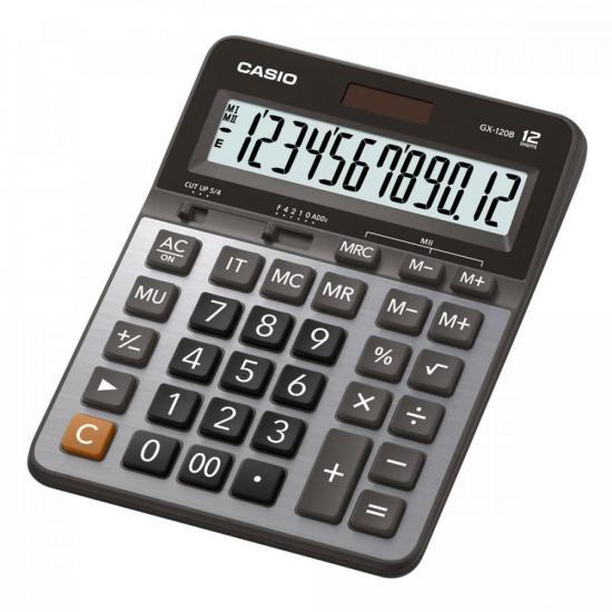 Calculadora de Mesa 12 Dígitos GX-120B Prata CASIO  - Audio Video & cia