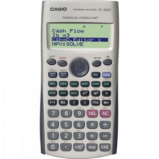 Calculadora Financeira FC-100V Branca CASIO  - Audio Video & cia