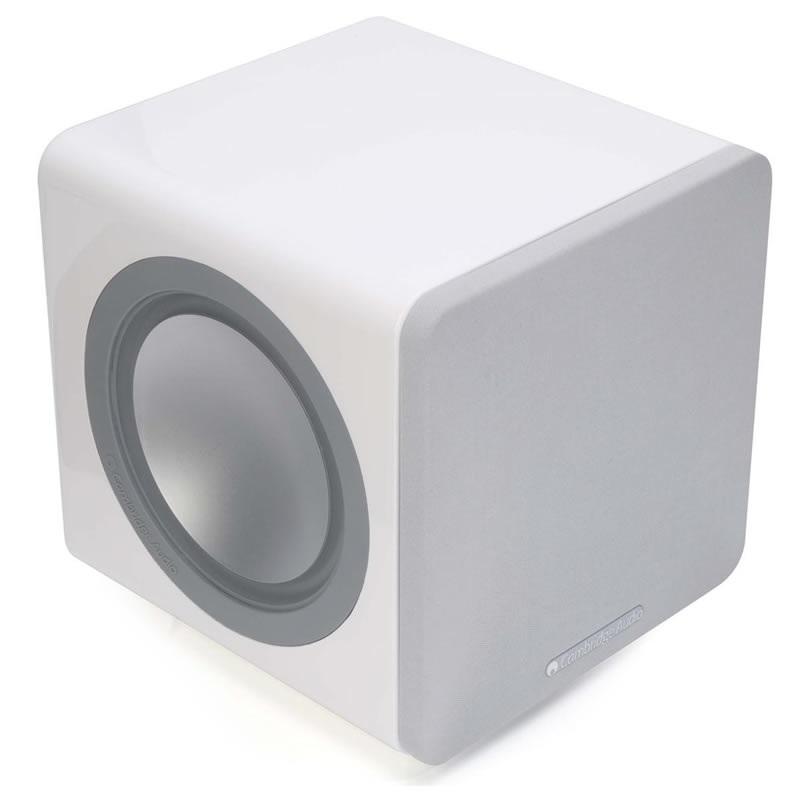 Cambridge Audio Minx X201 Branco - Subwoofer Ativo 200Wrms  - Audio Video & cia