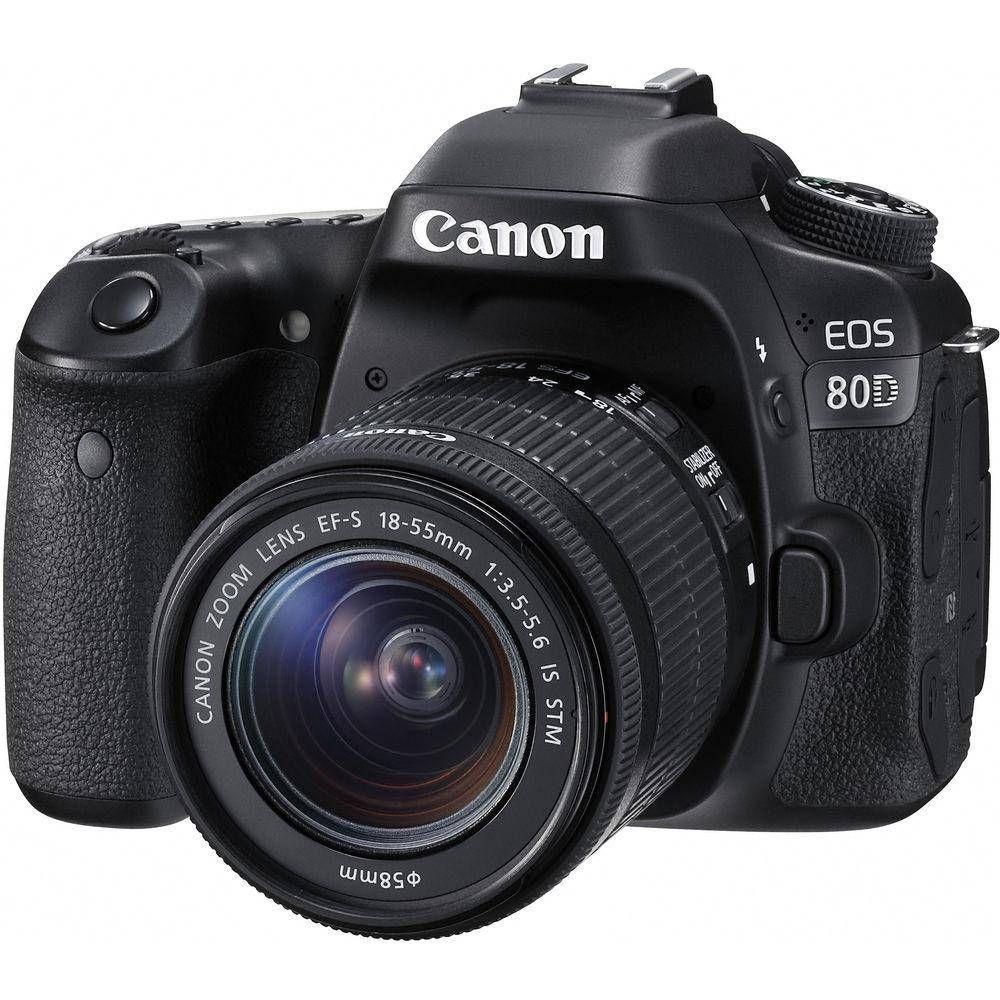 Canon EOS 80D Camera com lente 18 x 55 mm  - Audio Video & cia