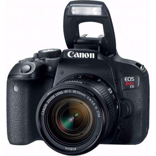 Canon EOS Rebel T7i Camera com Lente Kit 18-55mm F/4-5.6 IS STM  - Audio Video & cia