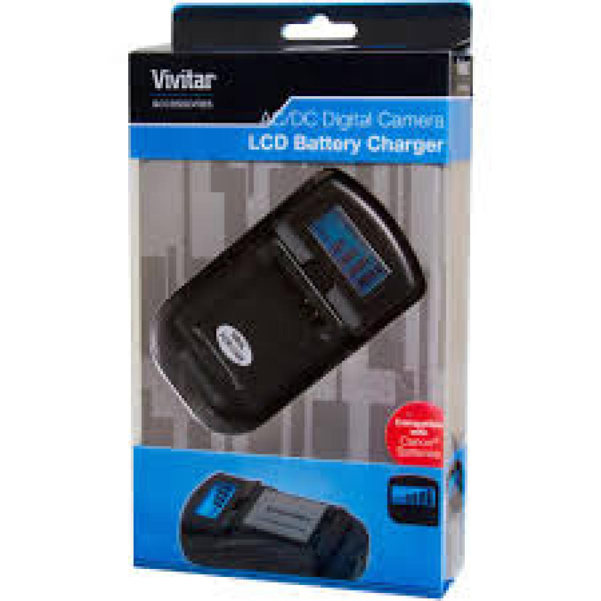 Carregador Universal Vivitar para Baterias Canon  - Audio Video & cia