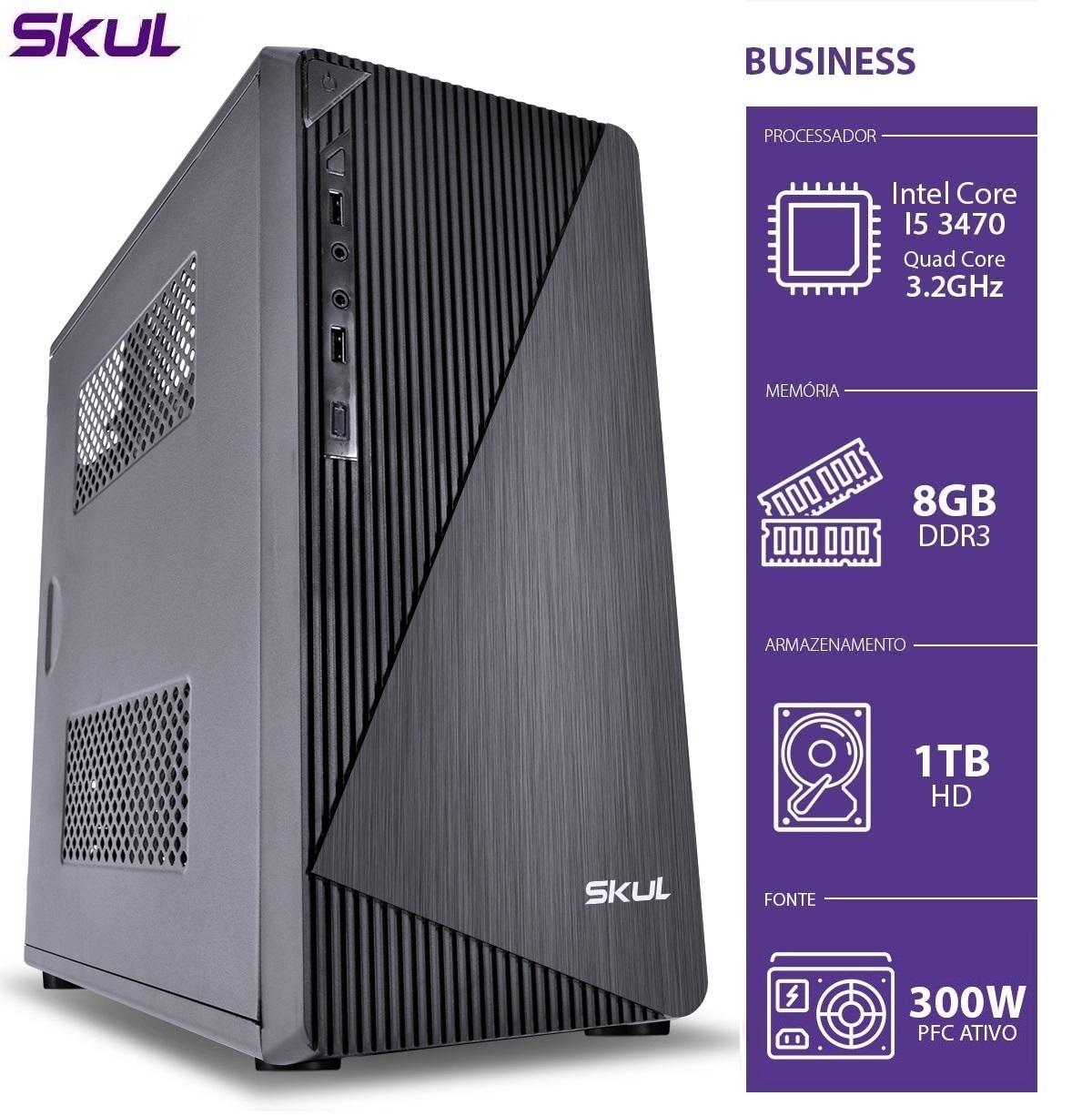 COMPUTADOR BUSINESS B500 - I5 3470 3.2GHZ 3ªGER MEM 8GB DDR3 HD 1TB HDMI/VGA FONTE 300W  - Audio Video & cia