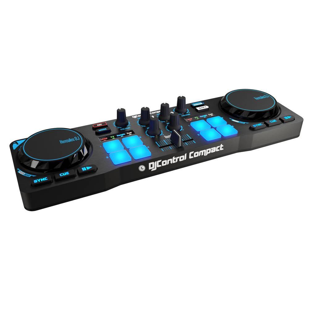 Controladora Hercules DJ Control Compact  - Audio Video & cia