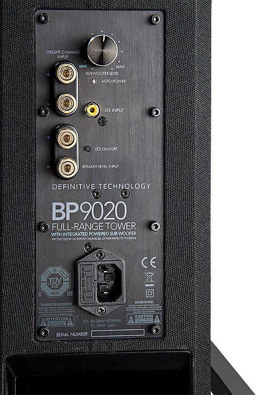 Definitive Technology BP9020 Caixa Torre Bipolar 3 vias 200W rms com sub ativo de 8 polegadas ( unid )  - Audio Video & cia