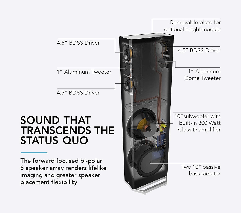 Definitive Technology BP9060 Caixa Torre Bipolar 3 vias 300W rms com sub ativo de 10 ( unid )  - Audio Video & cia