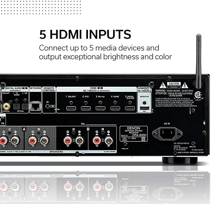 Denon DRA-800H Receiver Network estereo 100W 2.1 ch  - Audio Video & cia