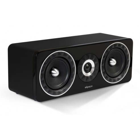 Elipson Prestige Facet 11C - Caixa Acustica Central Preta  - Audio Video & cia
