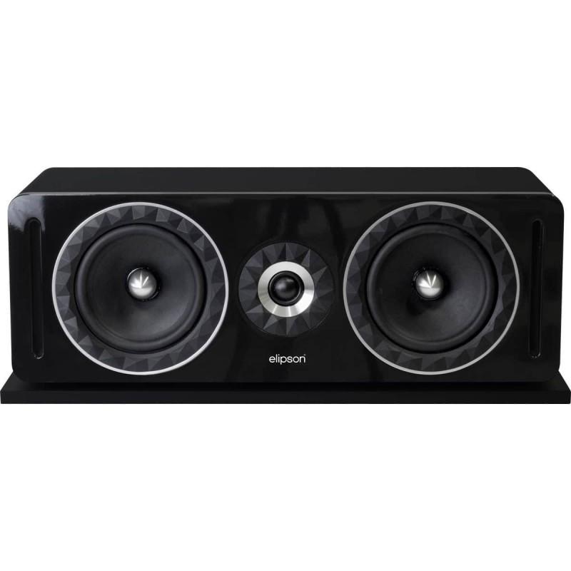 Elipson Prestige Facet 14C - Caixa Acustica Central Preta  - Audio Video & cia