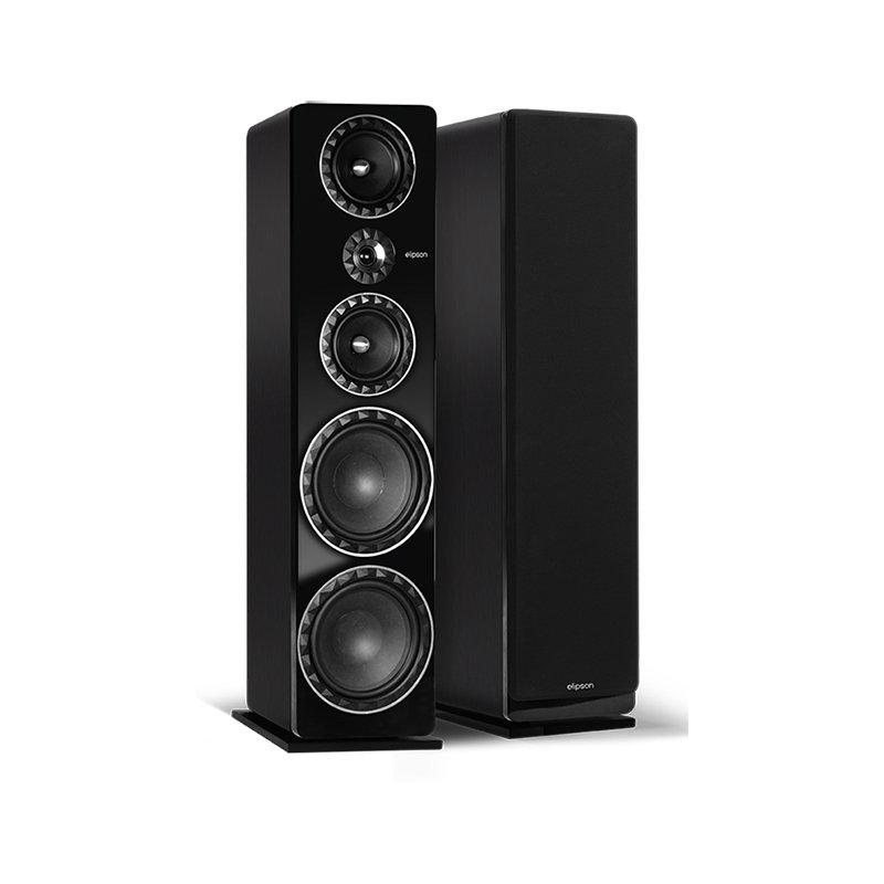Elipson Prestige Facet 34F Preta Caixa Acustica Torre 3 vias 300W rms ( unid )  - Audio Video & cia