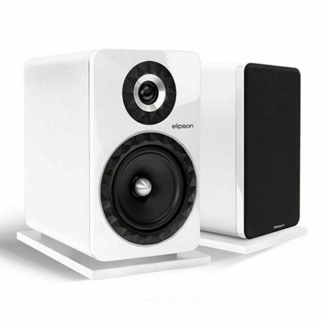 Elipson Prestige Facet 8B - Par de Caixas Acusticas Bookshelf Branca  - Audio Video & cia