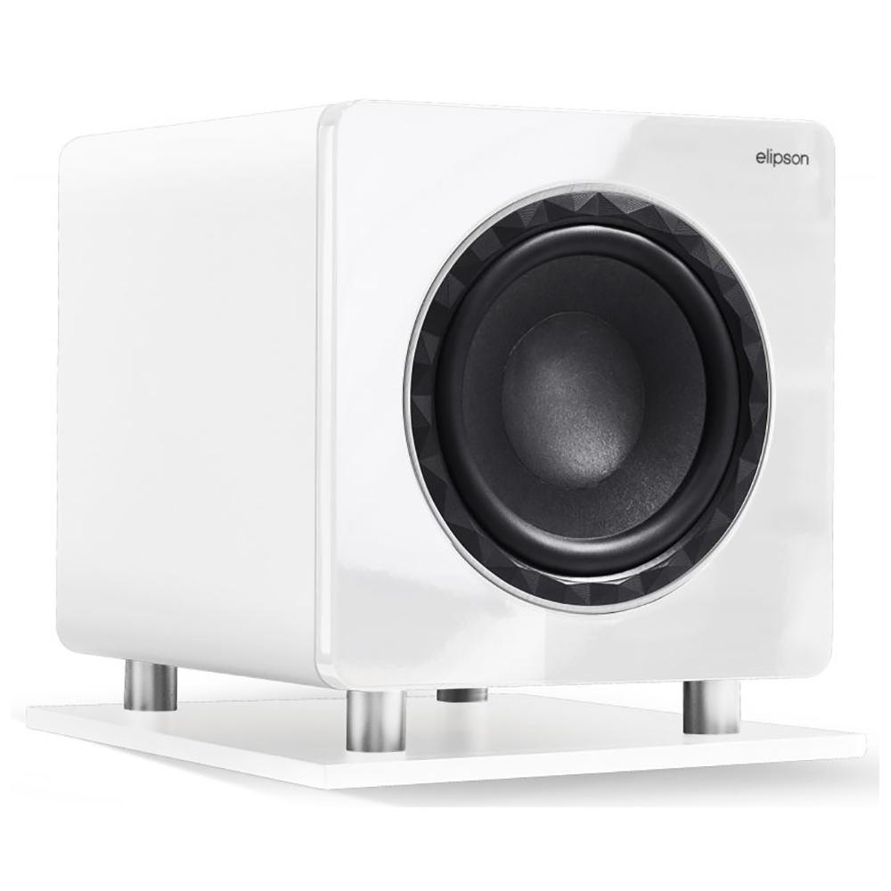 Elipson Prestige Facet Subwoofer 10 polegadas Ativo 250W rms Branco  - Audio Video & cia