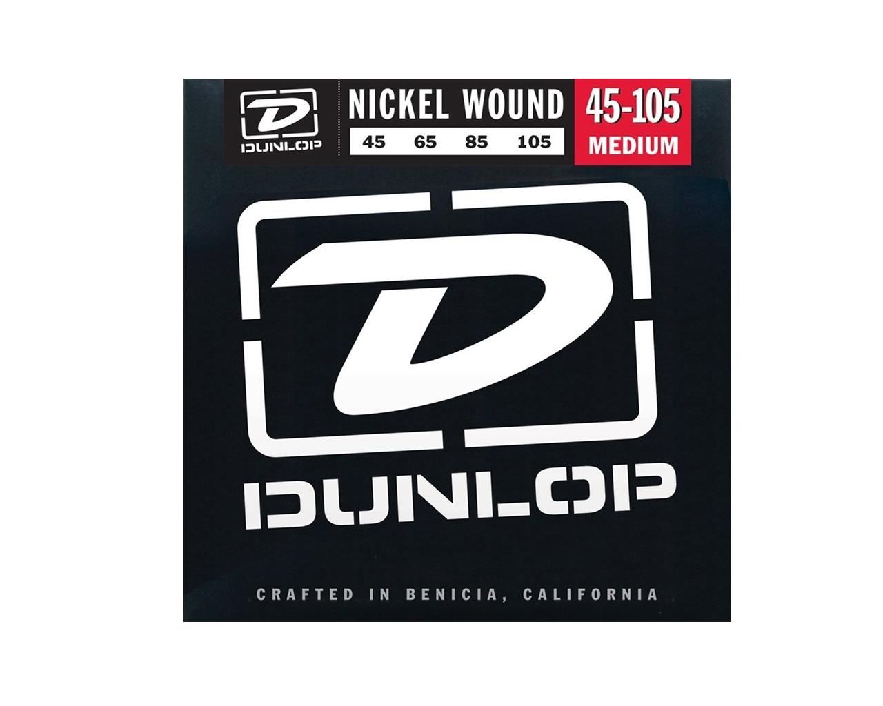 Enc. 045 P/baixo 4c Niquel Media Dbn45105 Dunlop  - Audio Video & cia