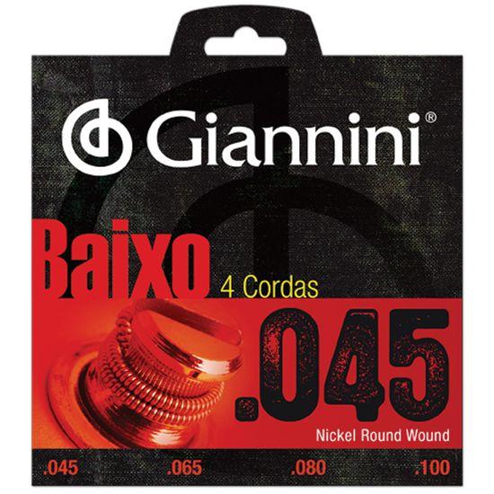 Encordoamento para Contrabaixo 4 Cordas .045 GEEBRS GIANNINI  - Audio Video & cia