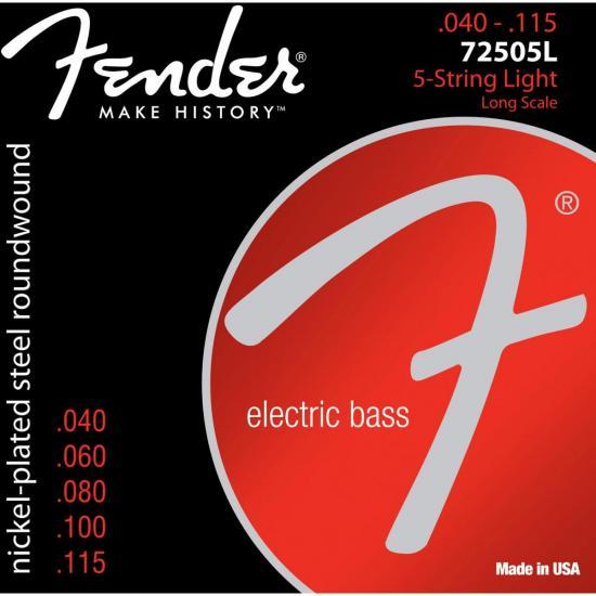 Encordoamento para Contrabaixo 5 Cordas Aço .0040 72505L Niquelado FENDER  - Audio Video & cia