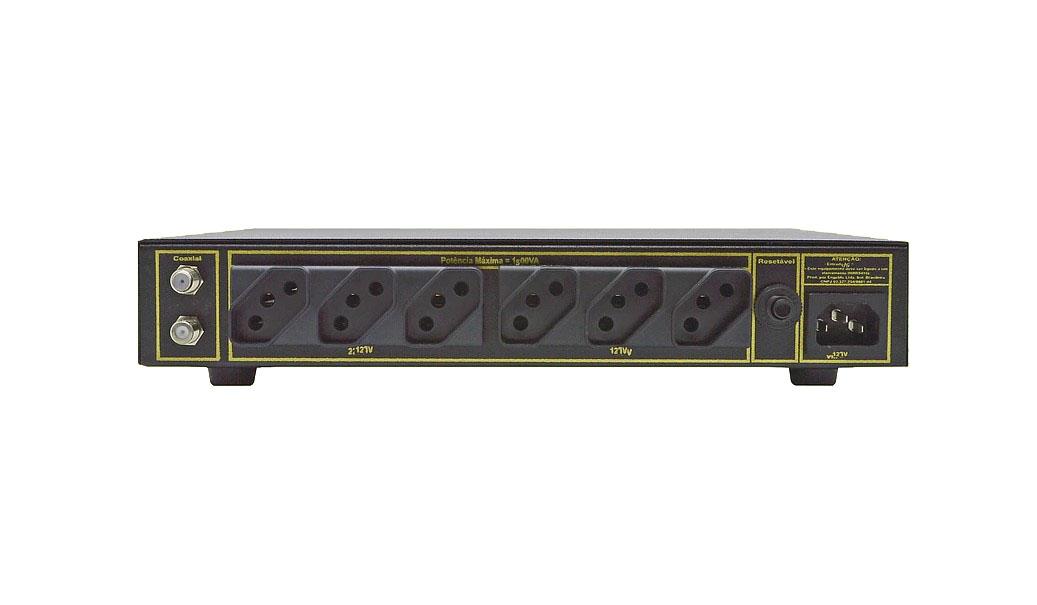 Engeblu C1000-SRX Condicionador 1500W, 7 tomadas 127V  - Audio Video & cia