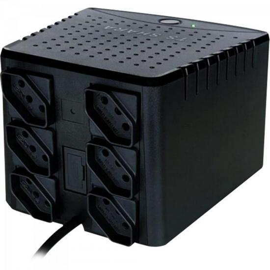 Estabilizador 2000VA POWEREST ABS 115V Preto TS SHARA  - Audio Video & cia