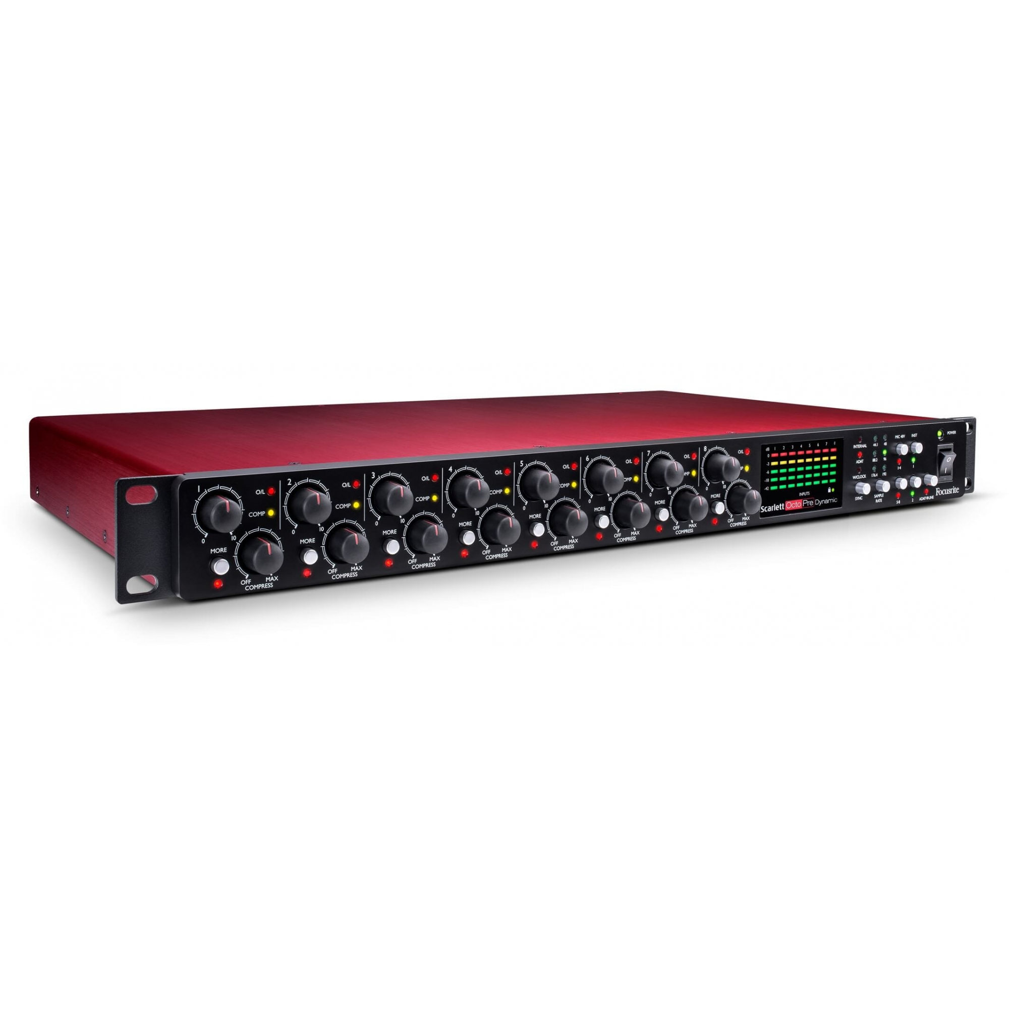 Focusrite Scarlett Octopre Dynamic Interface de audio  - Audio Video & cia