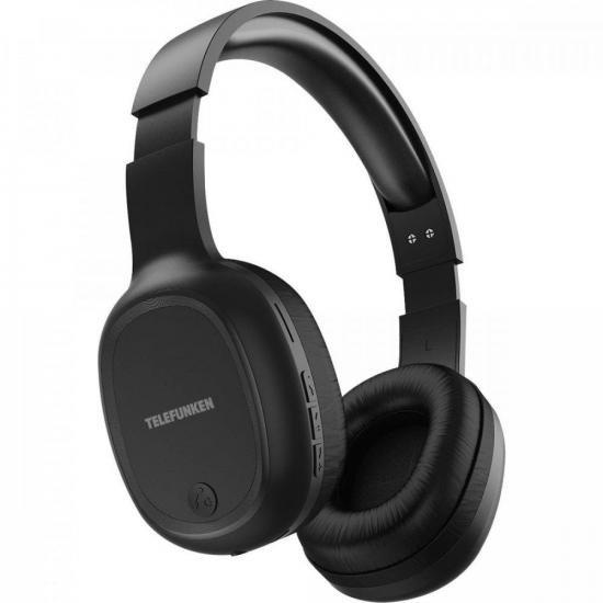 Fone de Ouvido Bluetooth Over-Ear H500BT Preto TELEFUNKEN  - Audio Video & cia
