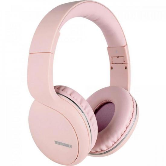 Fone de Ouvido Bluetooth Over-Ear H600BT Rosa TELEFUNKEN  - Audio Video & cia