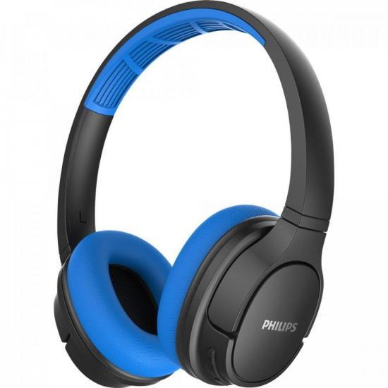 Fone de Ouvido Bluetooth TASH402BL/00 Azul/Preto PHILIPS  - Audio Video & cia