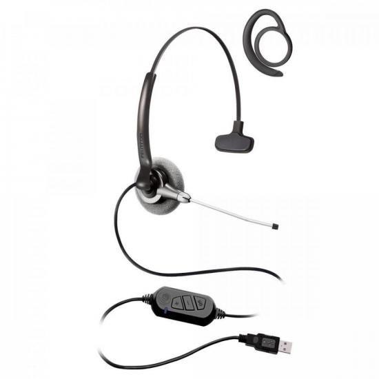 Fone Headset c/ Gancho Auricular Stile Top Due Compact Preto FELITRON  - Audio Video & cia