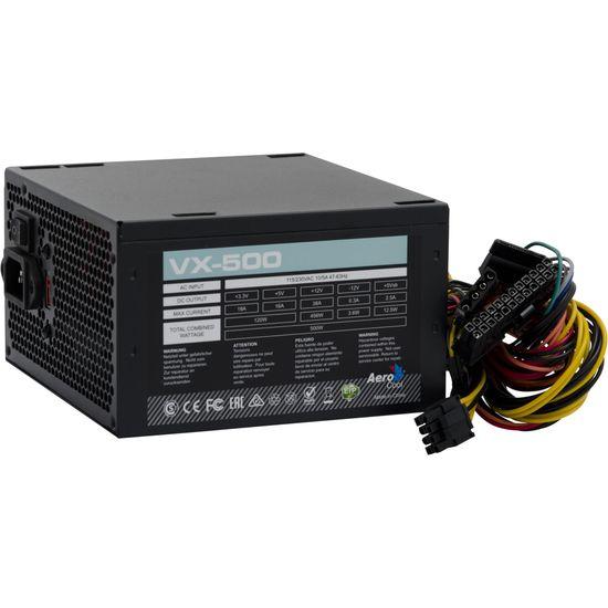 Fonte ATX s/Cabo 500W VX-500 EN57136 Preto AEROCOOL  - Audio Video & cia