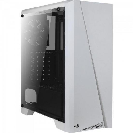 Gabinete Gamer Mid Tower RGB Cylon Branco AEROCOOL  - Audio Video & cia