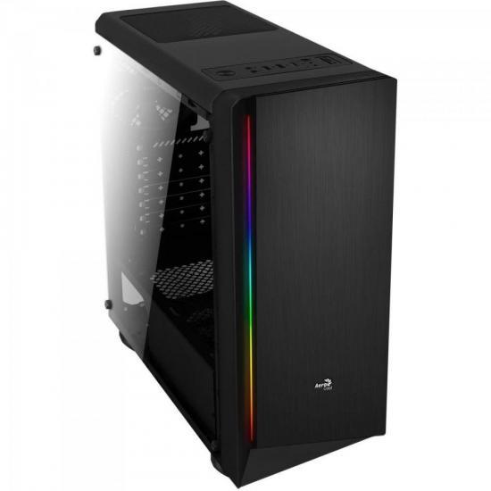 Gabinete Gamer Mid Tower RGB Rift Preto Acrílico AEROCOOL  - Audio Video & cia