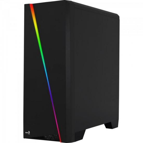 Gabinete MID Tower RGB Cylon Preto AEROCOOL  - Audio Video & cia