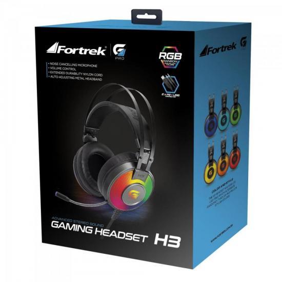 Headset Gamer RGB G Pro H3 Cinza FORTREK  - Audio Video & cia