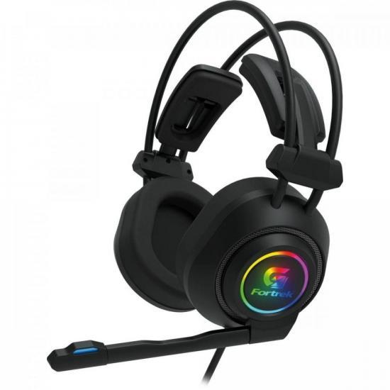 Headset Gamer RGB Vickers Preto FORTREK  - Audio Video & cia
