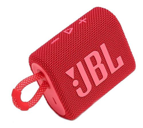 JBL Go 3 Caixa de Som Portátil Com Bluetooth Red  - Audio Video & cia