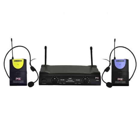 JWL U585HH Microfone Duplo Sem Fio Headset  - Audio Video & cia