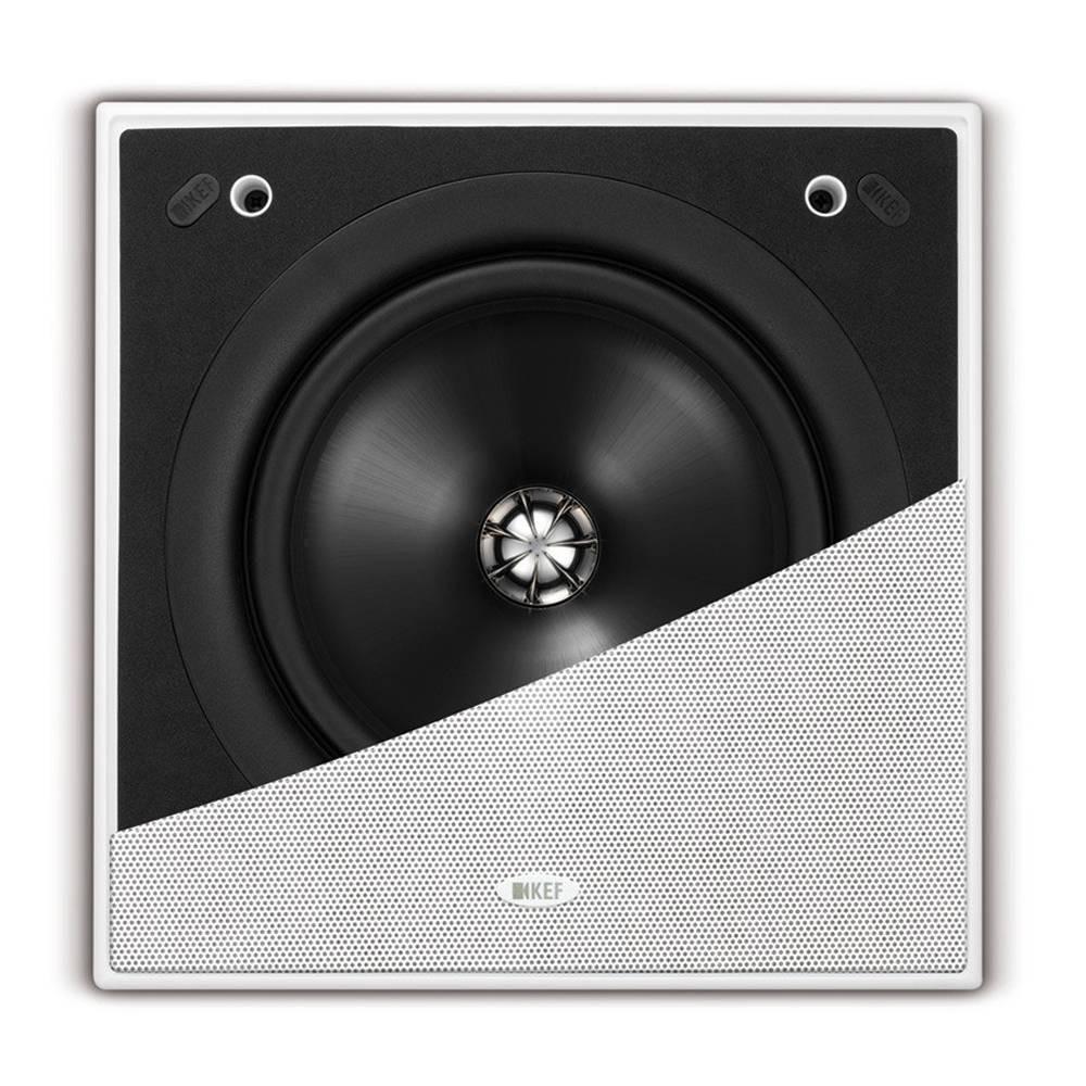 KEF CI200 QS - Caixa Acústica de embutir quadrada 2 vias 8 pol 150W ( unid ) - 5 Anos de Garantia  - Audio Video & cia