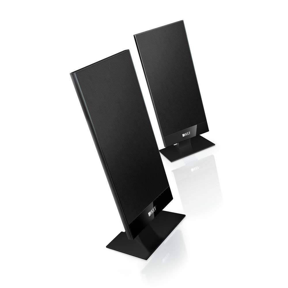 KEF T101 - Caixa Acustica Satelite Slim de 100W  Preta ( par )  - Audio Video & cia