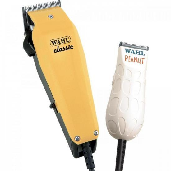Kit Máquina de Cabelo Classic + Peanut 127V WAHL  - Audio Video & cia