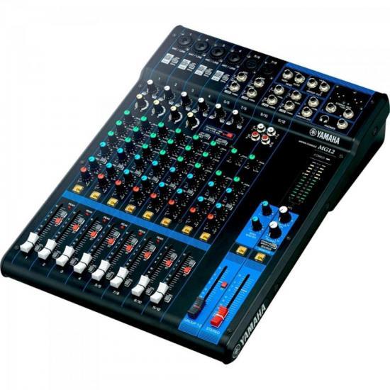 Mesa de Som Analógica 12 Canais MG12 Preta YAMAHA  - Audio Video & cia
