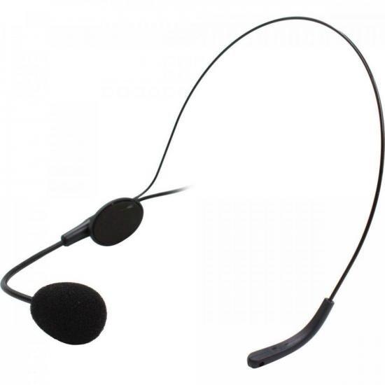 Microfone Headset com Fio HD 750R Preto LESON  - Audio Video & cia