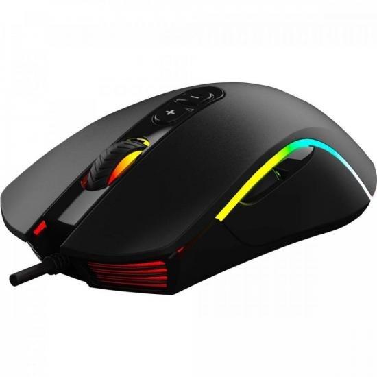 Mouse Gamer CRUISER RGB 10000DPI Preto FORTREK G  - Audio Video & cia